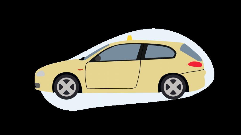 Ein Kombi Taxi