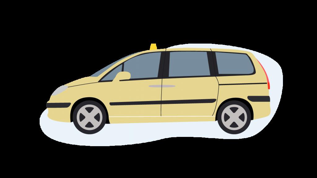 Ein Großraum Taxi