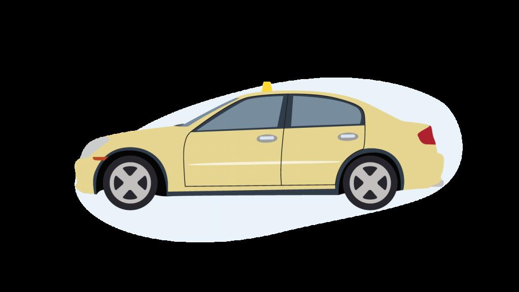 Eine Taxi Limousine