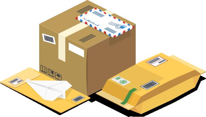 Ein Paket und Briefe
